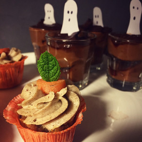 Raw morotskake-cupcakes