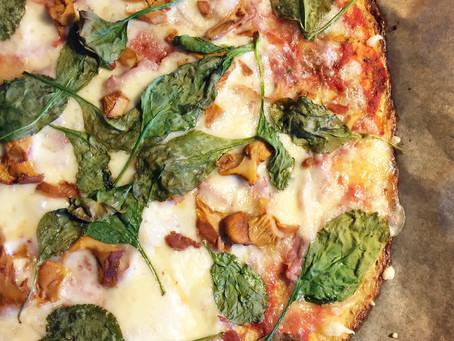 Bästa blomkålspizzan (glutenfri & LCHF)