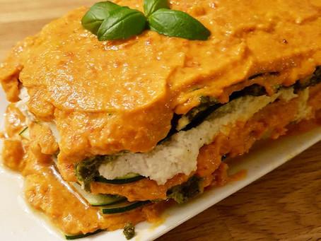 Rawfood lasagne