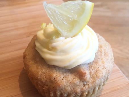 Citroncupcakes (utan gluten, vitt socker och mjölk)