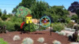 Public art: Applegate Trail metal sculpture on display in Dale Collins park