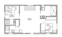 pleasurelea_batemansbay_accommodation_twobed_del_disabilityaccess_floorplan