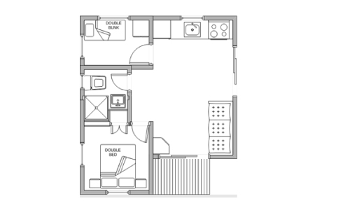 pleasurelea_batemansbay_accommodation_twobed_sleep4_floorplan