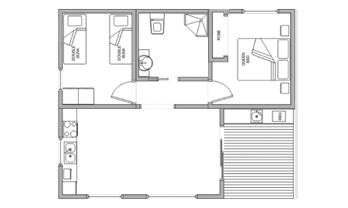 pleasurelea_batemansbay_accommodation_superiorfamily_floorplan