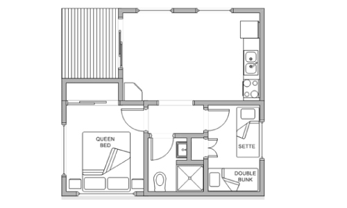 pleasurelea_batemansbay_accommodation_twobedroom_supfloorplan