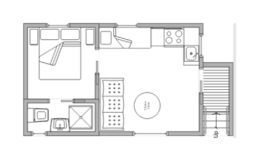 pleasurelea_batemansbay_accommodation_ensuitecabin_floorplan