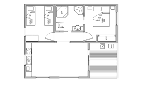 Superior Spa Cabin Layout