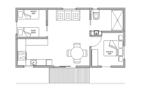 pleasurelea_batemansbay_accommodation_twobed_del_floorplan