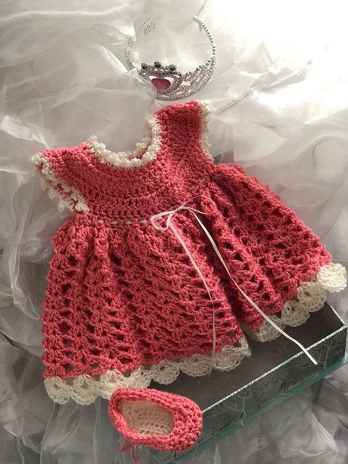 Crochet Baby Dress - Complete Set