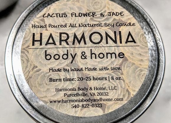 Cactus Flower & Jade Candle