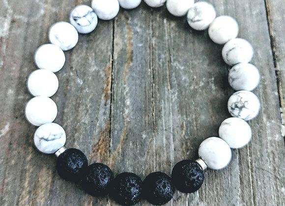Howlite Lava Stone Bracelet