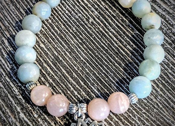 Mala Bracelet - Amazonite & Moonstone