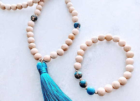 Mala Necklace - Riverstone