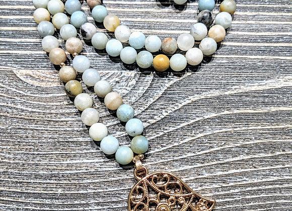 Mala Necklace - Amazonite