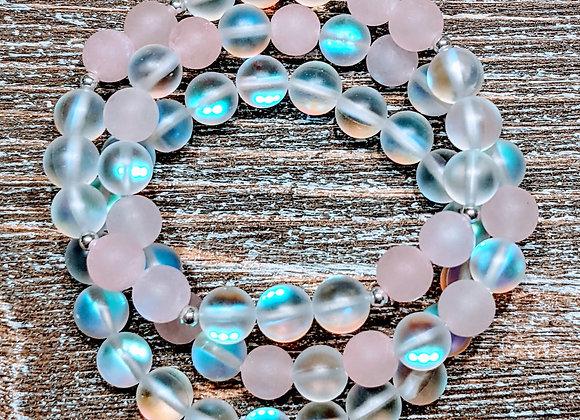 Mala Bracelet - Mystic Aura & Rose Quartz
