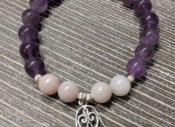 "Mala Bracelet - Amethyst & Opal ""Protect & Soothe"""