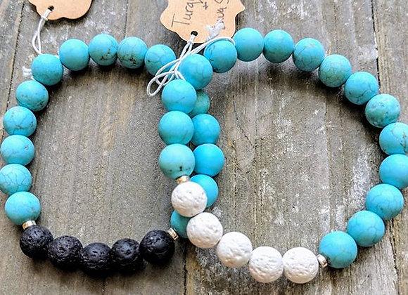 Turquoise Lava Stone Bracelet