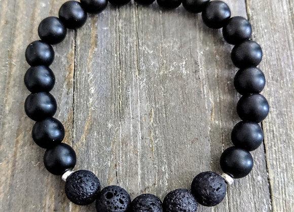 Onyx Lava Stone Bracelet