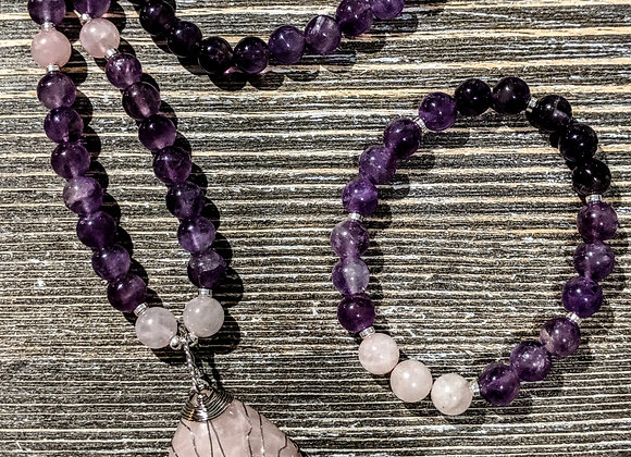 Mala Necklace - Amethyst