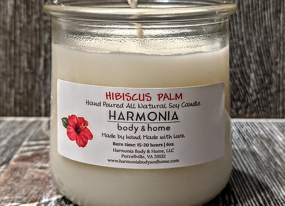 Hibiscus Palm Candle