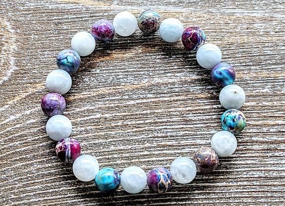 Aquamarine & Galaxy Jasper Bracelet