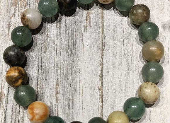 Aventurine & New Jade Bracelet