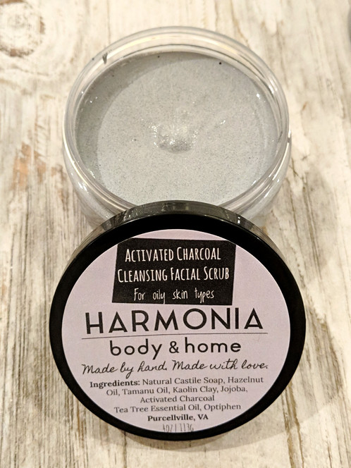 Activated Charcoal Cleansing Facial Scrub