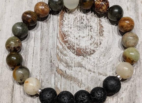 New Jade Lava Stone Bracelet