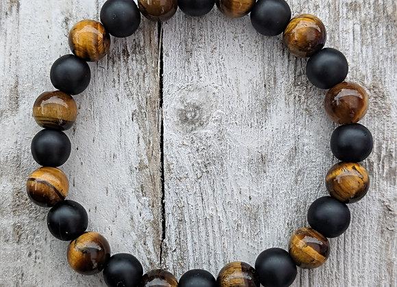 Onyx & Tiger's Eye Bracelet