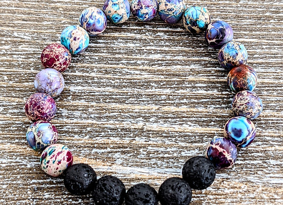 Galaxy Jasper Lava Stone Bracelet