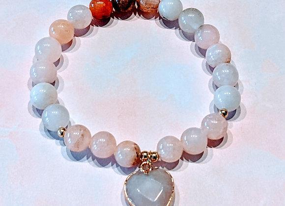 Mala Bracelet - Pink Opal & Rose Quartz
