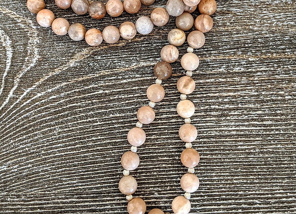 Mala Necklace - Sunstone