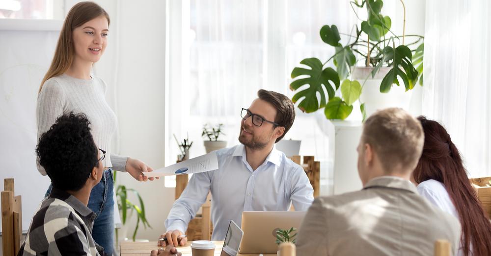 Millennials at a business table