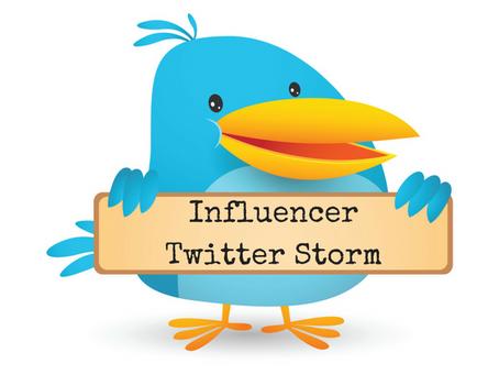 Announcement: Influencer Twitter Storm