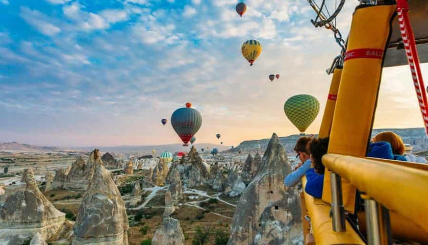View of the Cappadocia from the Basket