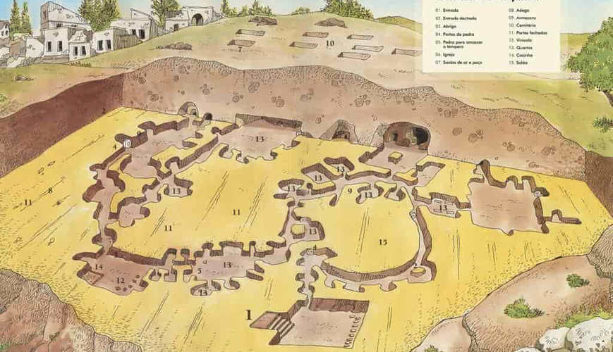 Map of Cappadocia Undergorund City