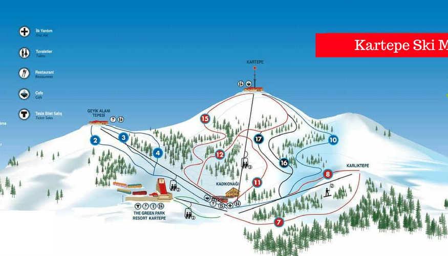 Kartepe Ski Map