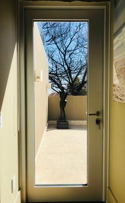 Glass security door