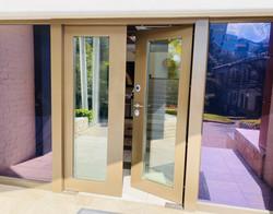 Double entrance door. Commercial