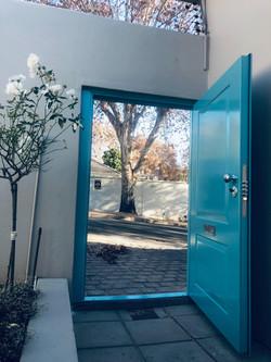 turquoise Security Door