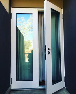 Double glass security door