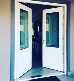 Double Security Door with tripple glazed safety glass