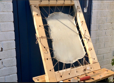 Goatskin in the garden: how does it feel to prepare your own parchment?