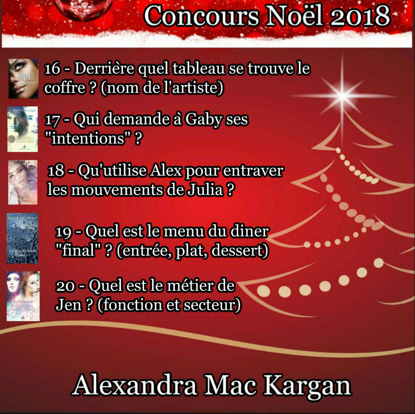 CONCOURS NOEL 2018 SERIE 4