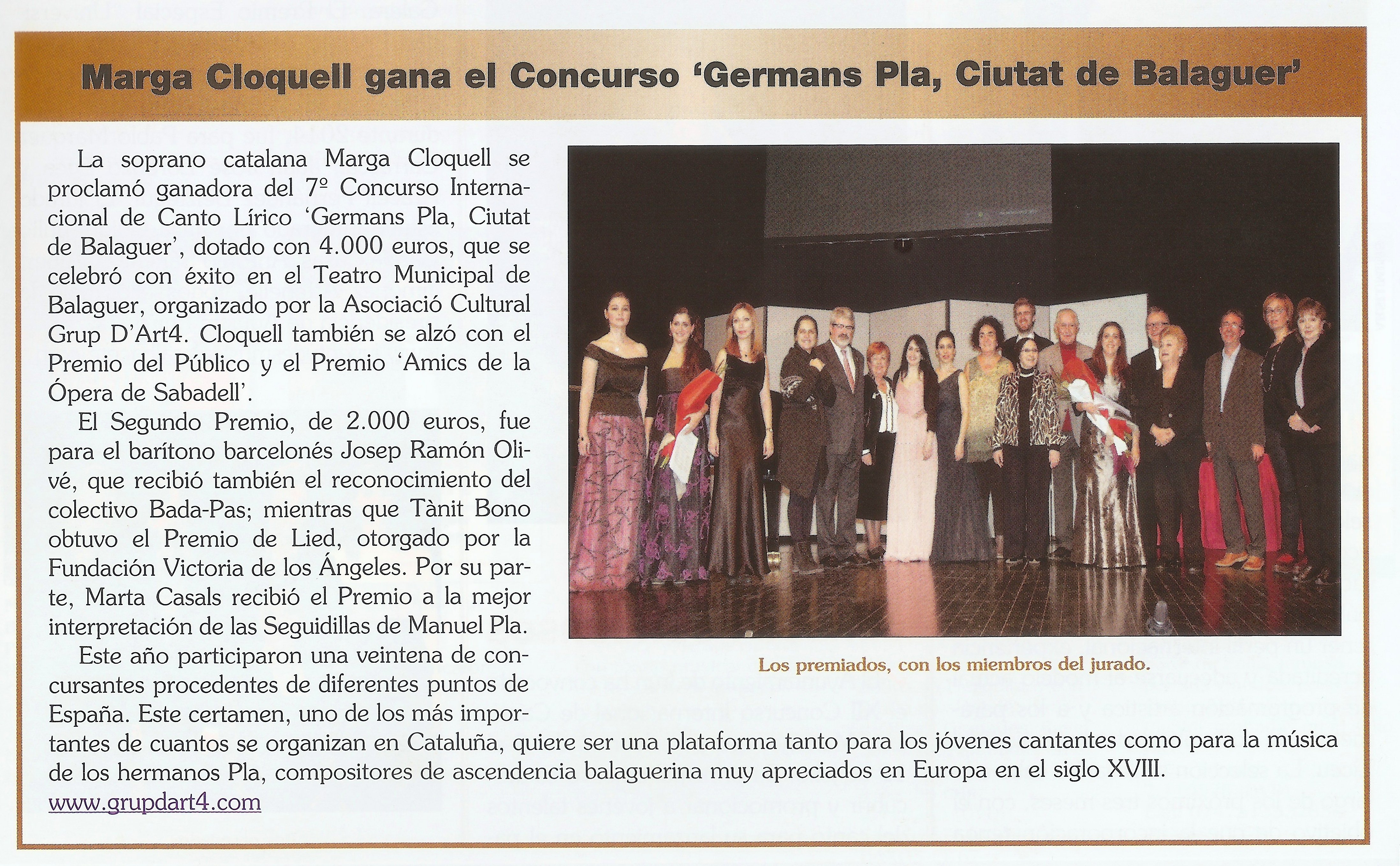 """1er premi ciutat de Balaguer.""""Ritmo"""""""