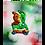 "Thumbnail: Santa Bear in Green 8""x10"" Print"