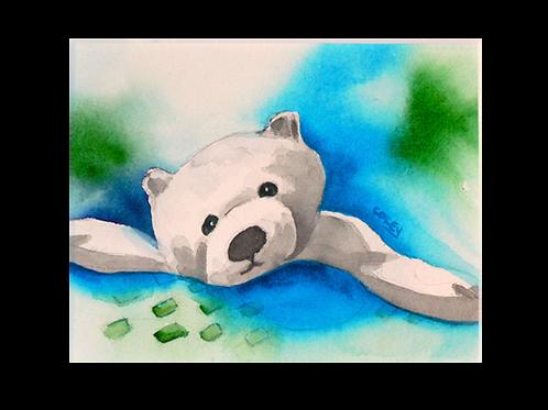 "Paulie Polar Bear 8""x10"" Print"