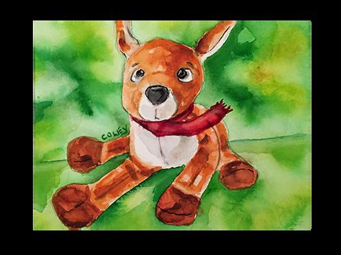 """Ryan Reindeer 8""""x10"""" Print"""