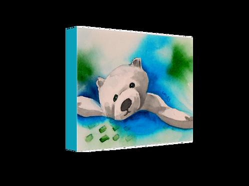 """Paulie Polar Bear 8""""x10"""" Canvas Print"""