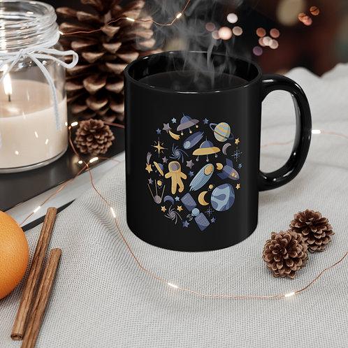 Spacey Black Mug